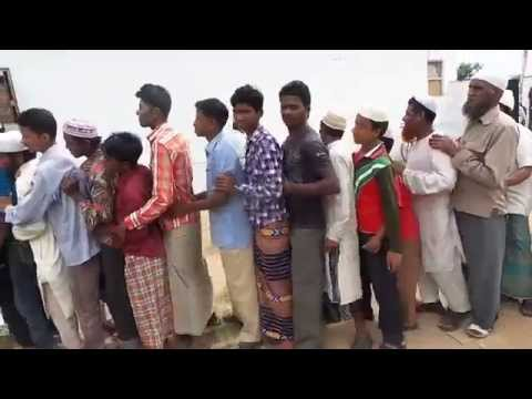 Distribution of relief to Rohingya Muslims in India