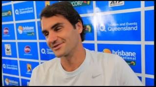 In an interview at the Brisbane International, Roger Federer talks about how his twins, Myla and Charlene feel about becoming big sisters, his favourite ...