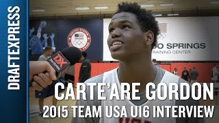 Carte'Are Gordon 2015 Team USA U16 Interview - DraftExpress