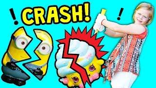 SURPRISE Piggy Bank Smash Paw Patrol and Minion and Pokemon Toys