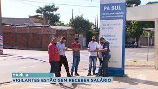 Vigilantes de Pronto Atendimento e SAMU realizam protesto por falta de pagamento em Marília