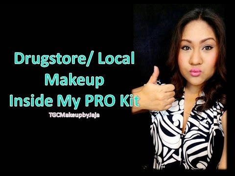 Drugstore/ Local Products Inside My Pro Kit ♥ TGCMakeupbyJaja