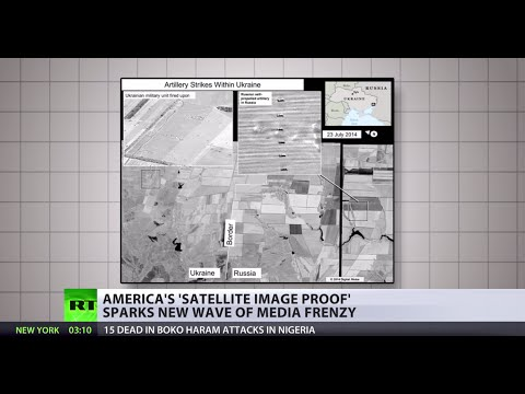 Media frenzy after US releases 'evidence' that Russia shelled Ukraine
