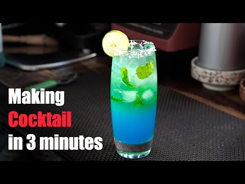 Lagoon Cocktail   Two Layers Cocktail