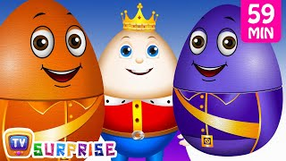Learn Colours & Objects with ChuChu TV Surprise Eggs Nursery Rhymes. Make your kids enjoy the surprise and learn Colors along with interesting new objects wi...