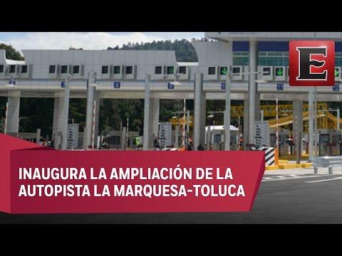 Peña Nieto entrega obras carreteras en el Edomex