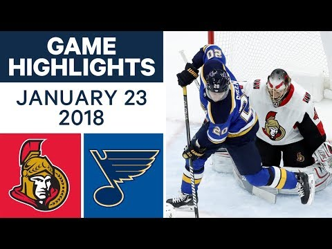 Video: NHL game in 4 minutes: Senators vs Blues