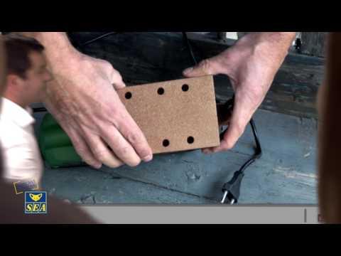 Garniture auto agrippante carbure de tungstène pour ponceuse vibrante