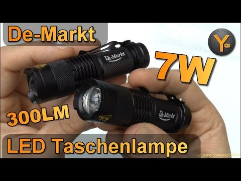 Kurztest: Demarkt 7W 300LM LED Taschenlampe / Q5 CREE LED Superhell