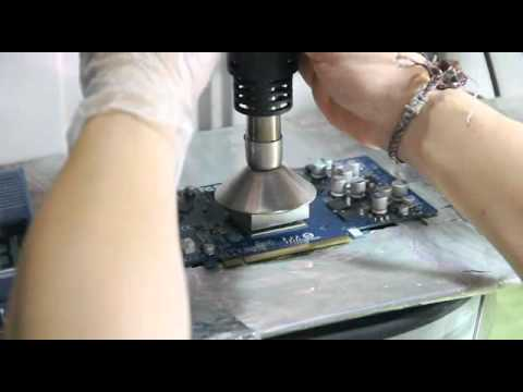 DIY BGA reworking 6800GT 植球-回焊-上機測試