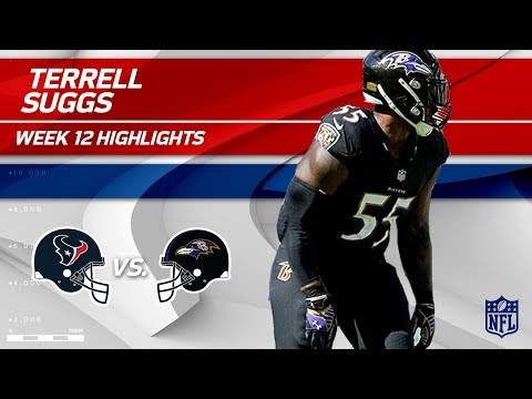 Video: Terrell Suggs Gets 2 Sacks & 1 Forced Fumble vs. Houston! | Texans vs. Ravens | Wk 12 Player HLs