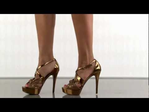 multiple heels and shoes - To purchase please visit: http://www.heels.com/womens-shoes/karune-2-bronze-multi-fab.html Get ready to steal the spotlight in this beauty! Karune 2 has a sh...