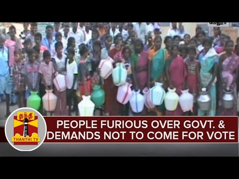 Village-People-Furious-Over-Government-Demands-Not-To-Come-to-Seek-Vote--Thanthi-TV