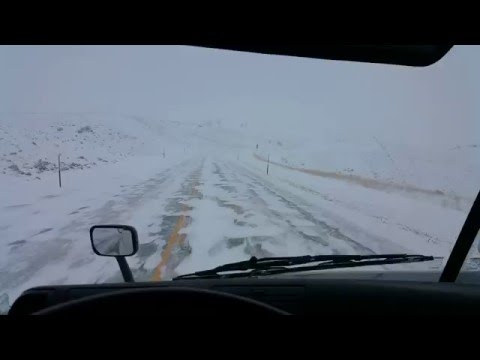 HOW TO drive down steep downhill in snow and ice, in an automatic Freightliner semi truck