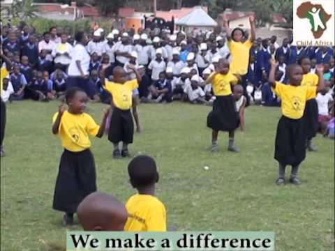 Child Africa Juniour School pupils entertaining guests on The Day of the African Child, in Uganda
