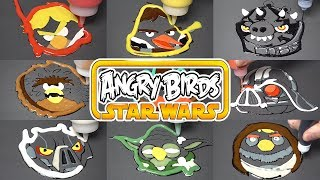Angry Birds Star Wars Pancake Art / Satisfying Video For Kids / learn colors