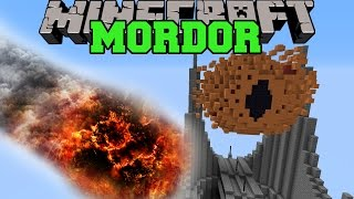 NATURAL DISASTERS VS MORDOR - Minecraft Mods Vs Maps (Lord of the Rings)
