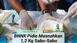 BNNK Pidie Musnahkan 1,2 Kilogram Sabu Sabu, Tersangka Mengaku Pasok dari Aceh Timur dan Medan