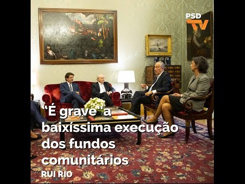 """Rui Rio: """"É grave"""" a baixíssima execução dos fundos comunitários"""