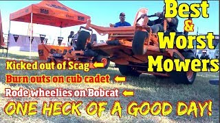 5. Best and Worst Lawnmowers of 2018 & 2019 -Plus Kicked out of the Scag booth
