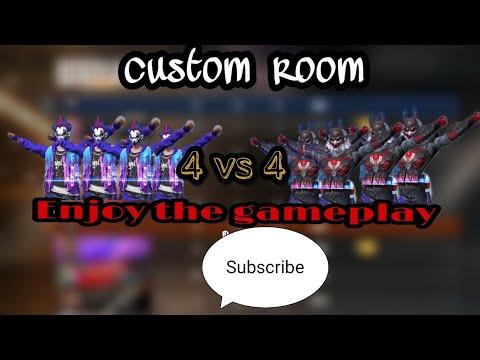 Team Warrior challenged Desert storm in clash squad custom match. #Free fire. 4 vs 4