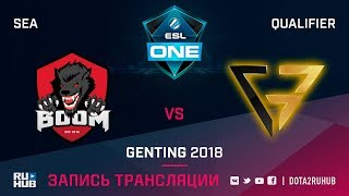BOOM ID vs Clutch Gamers, ESL One Genting SEA Qualifier, game 1 [Lex, 4ce]