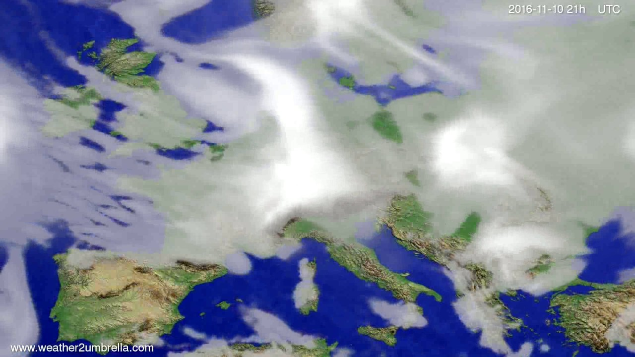 Cloud forecast Europe 2016-11-07
