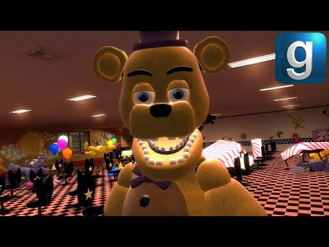 Gmod FNAF | The Story of FNAF: The Crossover видео