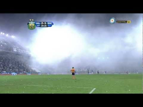 Video - Bengalas hinchada racing vs Velez HD - La Guardia Imperial - Racing Club - Argentina