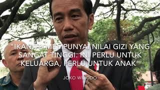 Pemerintahan Joko Widodo ingin konsumsi ikan dalam negeri meningkat. Hal tersebut demi peningkatan kualitas sumber daya manusia Indonesia agar bisa bersaing dalam kompetisi global.Cita-cita itulah yang melahirkan lomba masak ikan di Istana Presiden. Pesertanya berasal dari seluruh Indonesia. Lomba itu menelurkan sepuluh finalis. Mereka memasak menu ikan andalannya di halaman Istana Presiden, Selasa (15/8/2017).Presiden Joko Widodo dan Ibu Negara Iriana Jokowi berkesempatan mencicipi sejumlah menu. Mulai dari burger ikan, botok ikan, ikan bumbu kuning hingga cendol ikan.Mau liat keseruannya? Simak video ini...(KOMPAS.com/FABIAN JANUARIUS KUWADO)