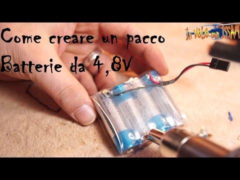 Come creare un pacco batterie da 4,8v usando 4 stilo ricaricabili!