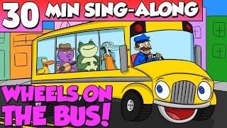Video Wheels on the Bus - Nursery Rhyme Sing Along | A Cool School Kids Song w/ Ms. Booksy & Crafty Carol MP3, 3GP, MP4, WEBM, AVI, FLV Januari 2018