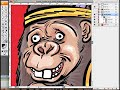 Ian Marsden shows how he draws cartoons in Adobe Illustrator