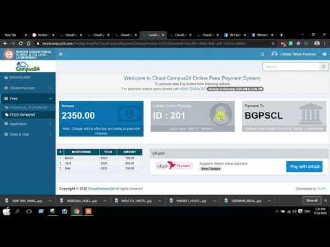 bkash Online fee Payment System