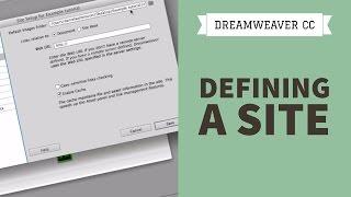 Dreamweaver CC Tutorial - Part 1 - Defining A Site