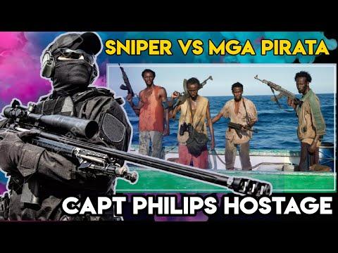 Ang panghoh0stage kay CAPTAIN PHILIPS NG MGA PIRATA. US SNIPER VS SOMALI PIRATES TRUE STORY