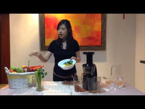 Hurom self cleaning and juicing recipe