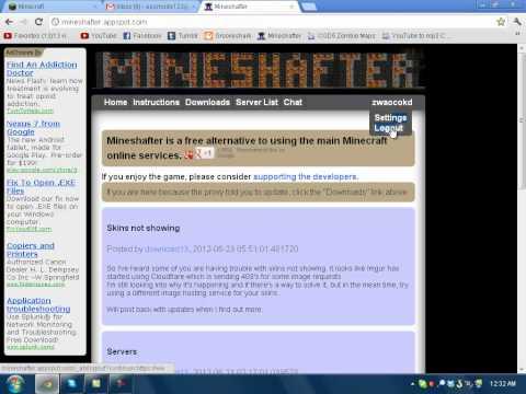 minshafter - Minecraft: http://www.minecraft.net/ Mineshafter: http://mineshafter.appspot.com/ The SkinDex: http://www.minecraftskins.com/ Imgur: www.imgur.com Mineshafte...