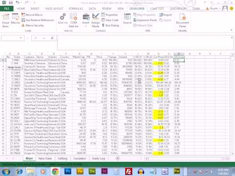 Creating an automated stock trading system in excel