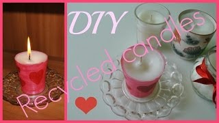 How to make candles from old candles - YouTube