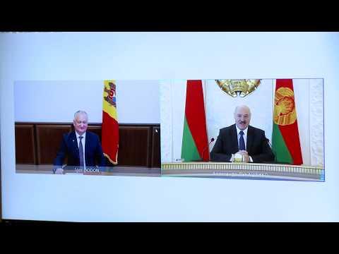 Președintele Republicii Moldova a avut o discuție în format online cu Președintele Republicii Belarus