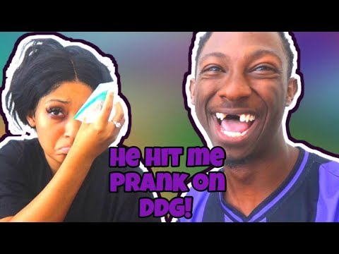 HE HIT ME PRANK ON DDG (HE WAS CRAZY MAD)