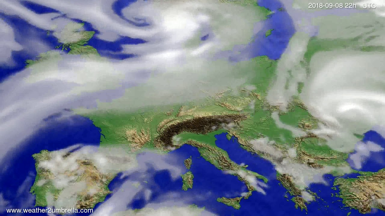 Cloud forecast Europe 2018-09-06