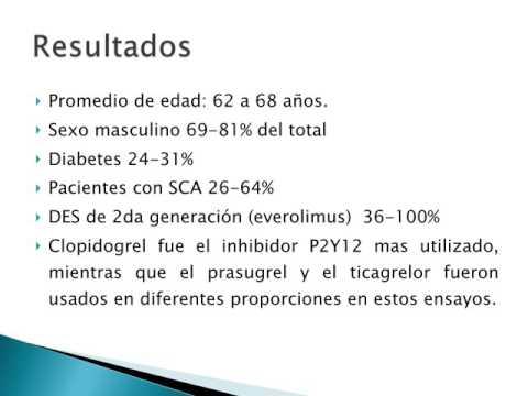 Duración de la doble terapia antiplaquetaria luego de stent DES. Dr. Mariano Napoli Llobera. Residencia de Cardiología. Hospital C. Argerich. Buenos Aires