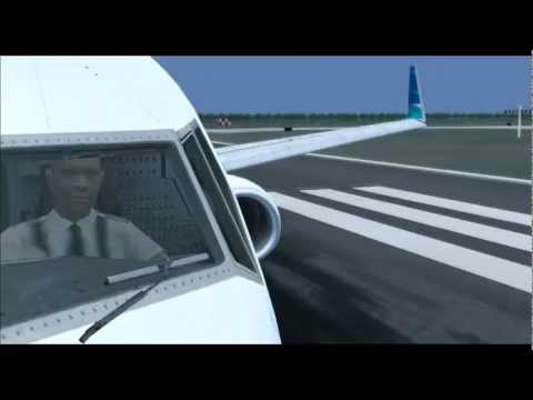 [HD] FSX Garuda Indonesia PMDG B737-800 Take Off at Soekarno Hatta