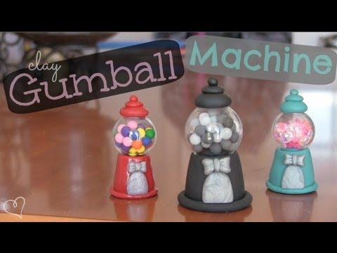 Clay - In this DIY, learn how to make clay gumball machines with a glass globe. Use them for charms, pendants, or even home decor. Check back next Crafty Friday for...