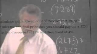 Lecture 34 - Developmental Arithmetic: Math 10