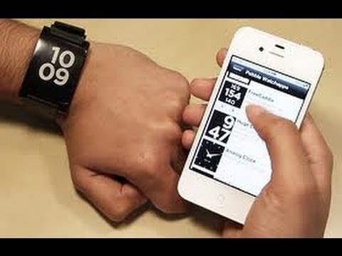 Pebble's Smart Watch for iPhone and Android Preview