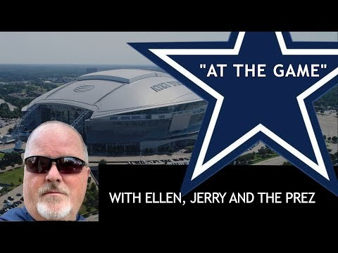 Cowboys/Packers with Ellen, Jerry and the Prez
