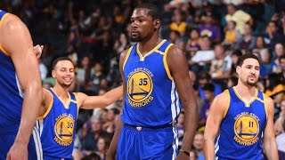 Curry, Durant and Thompson Combine for 78 Points by NBA
